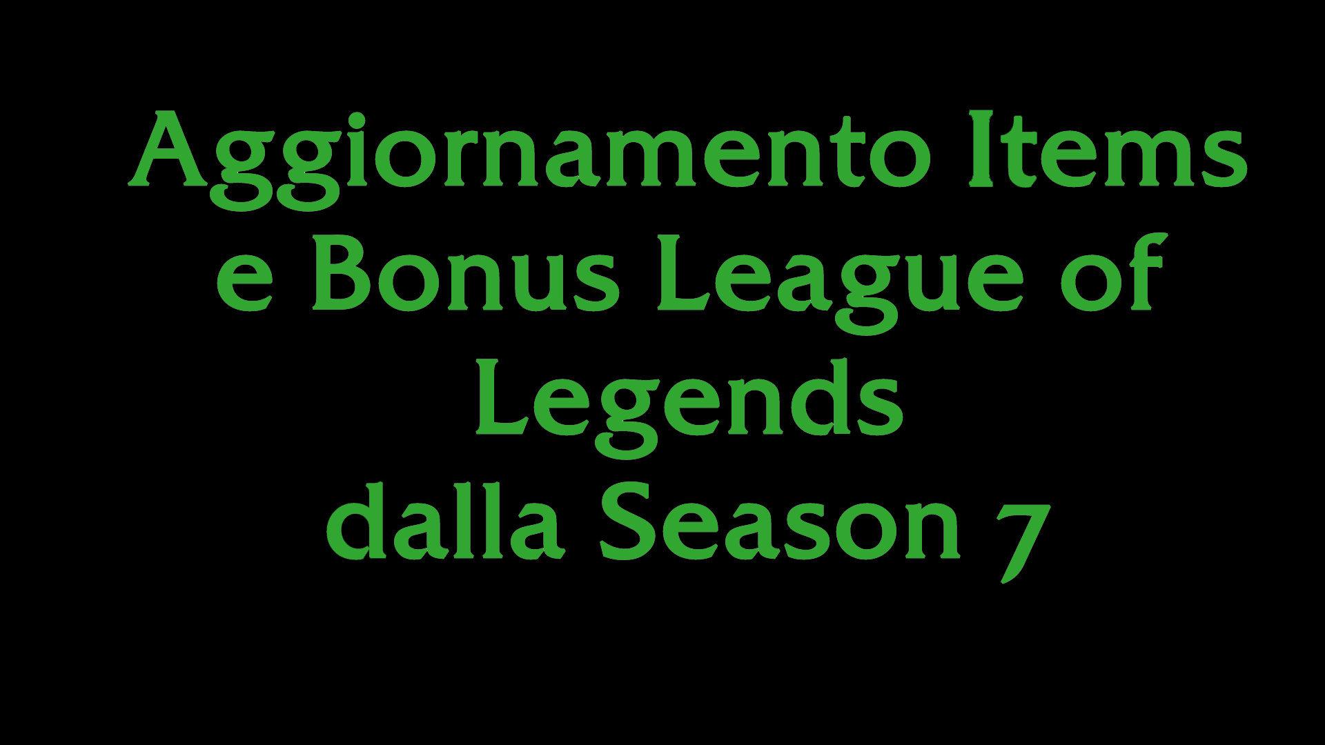 Items Aggiornati League of Legends