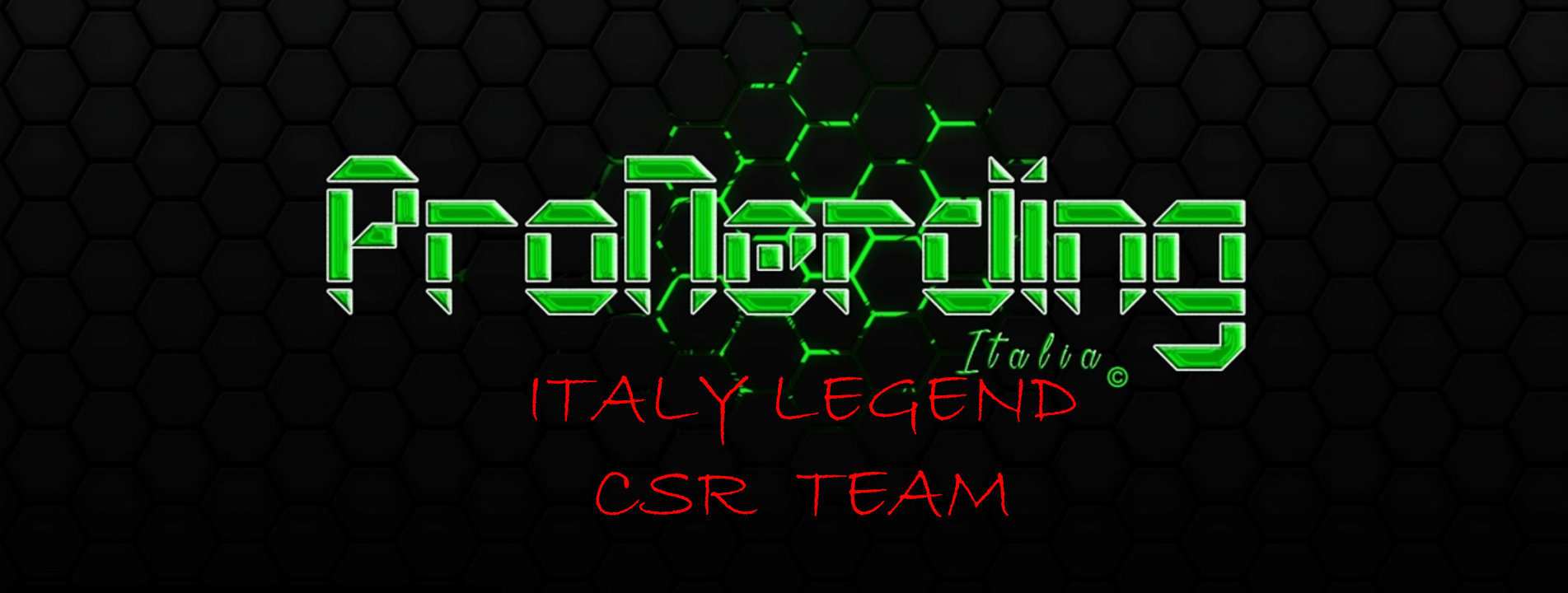 MODULO ITALY LEGEND CSR TEAM